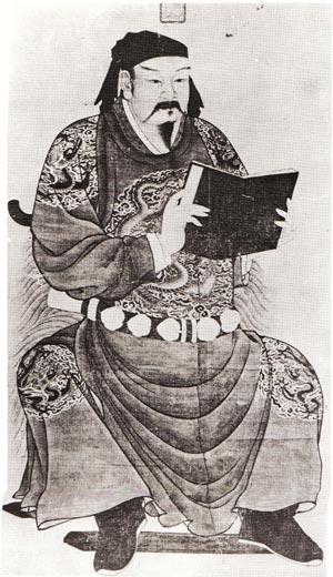 宋朝男子服饰 团花圆领袍衫
